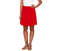 As Is Susan Graver Liquid Knit 8 Gore Pull-On Skort - A272271