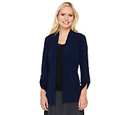 As Is Susan Graver Liquid Knit Open Front Cardigan - A273171