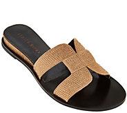 Judith Ripka Embellished Slide Sandals - Sloane - A276371