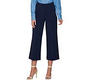 Susan Graver Chelsea Stretch Wide Leg Crop Pants - A288671