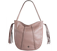 As Is orYANY Pebbled Leather Braided Hobo - Chelsea - A289071