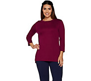 Isaac Mizrahi Live! Essentials Pima Cotton Crew Neck Tunic - A293971
