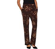 Susan Graver Printed Liquid Knit Pull-On Pants - A294871