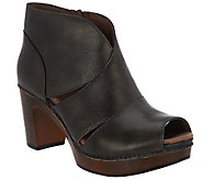 Dansko Leather Peep-toe Booties - Delphina - A296871