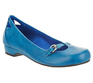 As Is Vionic w/ Orthaheel Sophia Orthotic Flats with Buckle Details - A298571