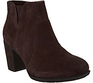 Clarks Suede Side Zip Ankle Boots - Enfield Senya - A300071