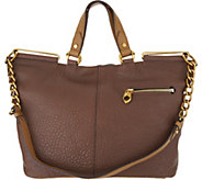 As Is orYany Lamb Leather Convertible Tote Handbag- Evangelina - A304271