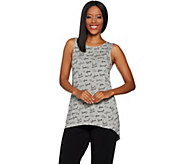 As Is AnyBody Loungewear Cozy Knit Printed Hi-Lo Tank - A309171