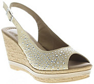 Azura by Spring Step Suede Leather Wedge Sandals - Showtime - A339971