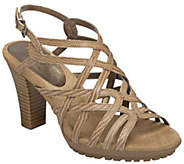 Aerosoles Leather Heeled Sandals - Cottage House - A340371