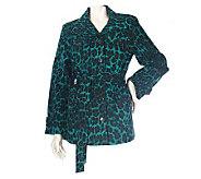 Linea by Louis DellOlio Stretch Cotton Leopard Print Jacket - A83571