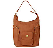 V Couture by Kooba Tyler Hobo Bag with Front Snap Pocket - A224672