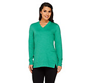 As Is LOGO Lounge by Lori Goldstein French Terry Top w/Pocket - A225672