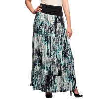 Women with Control Regular Printed Tier Maxi Skirt