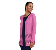 Joan Rivers Jersey Knit Boyfriend Cardigan with Sequin Detail - A234272