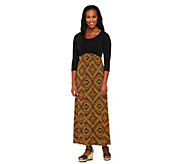 Bob Mackies Regular Harlequin & Mosaic Print Maxi Dress - A251772