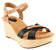 Clarks Artisan Leather Wedge Sandals - Caslynn Regina - A252672