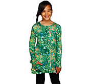 LOGO Littles by Lori Goldstein Long Sleeve Printed Top with Pockets - A255472