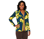 Isaac Mizrahi Live! Floral Printed Open Front Cardigan - A258472