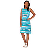 Liz Claiborne New York Sleeveless Striped Dress - A266172