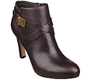 As Is Marc Fisher Leather Ankle Boot w/ Turn Lock - Orlando - A268172