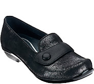 Dansko_Leather Slip-ons with Strap & Button Detail - Olena - A268672