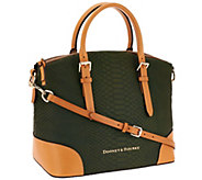 As Is Dooney & Bourke Claremont Python Domed Satchel - A272072