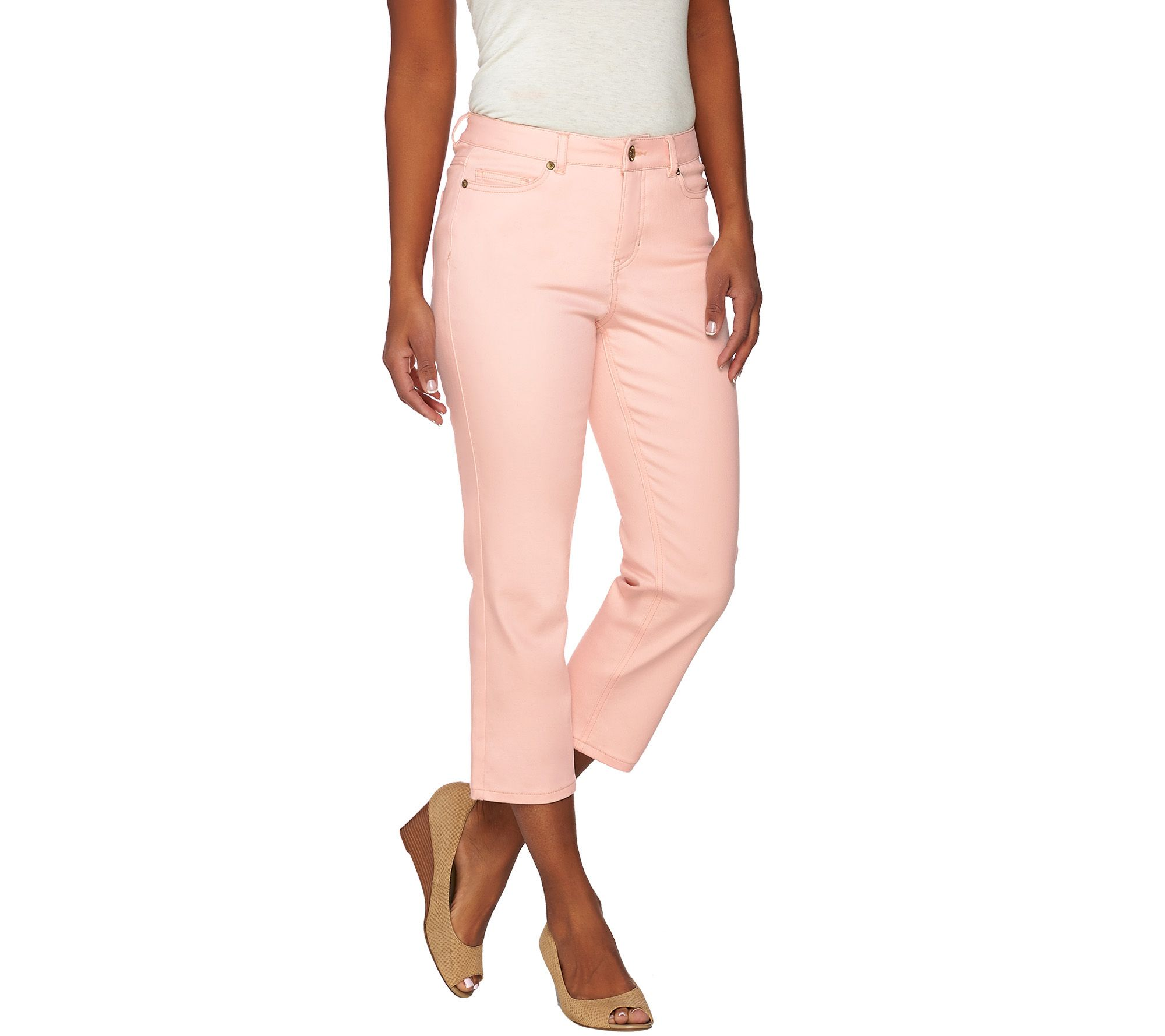 Isaac Mizrahi Live! TRUE DENIM Petite Cropped Colored Jeans - Page ...