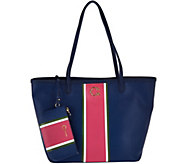 C. Wonder Large Racing Stripe Printed Tote Bag with Mini Pouch - A277972