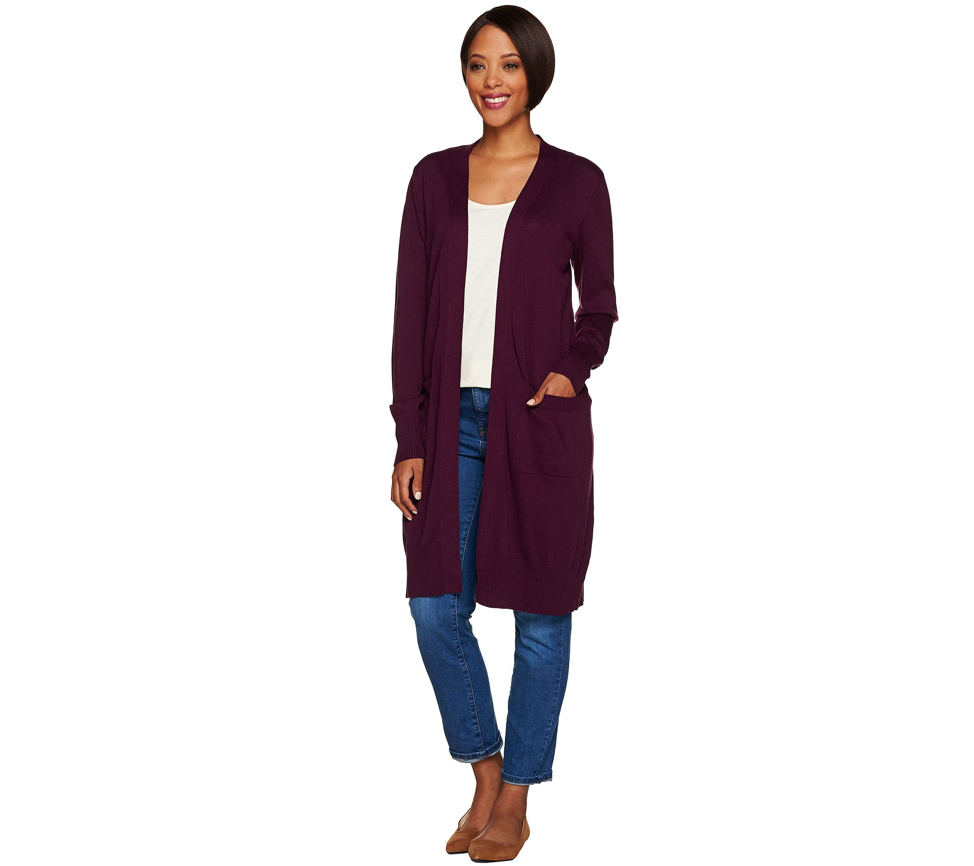 Denim & Co. — Cardigans — Sweaters & Cardigans — Fashion — QVC.com