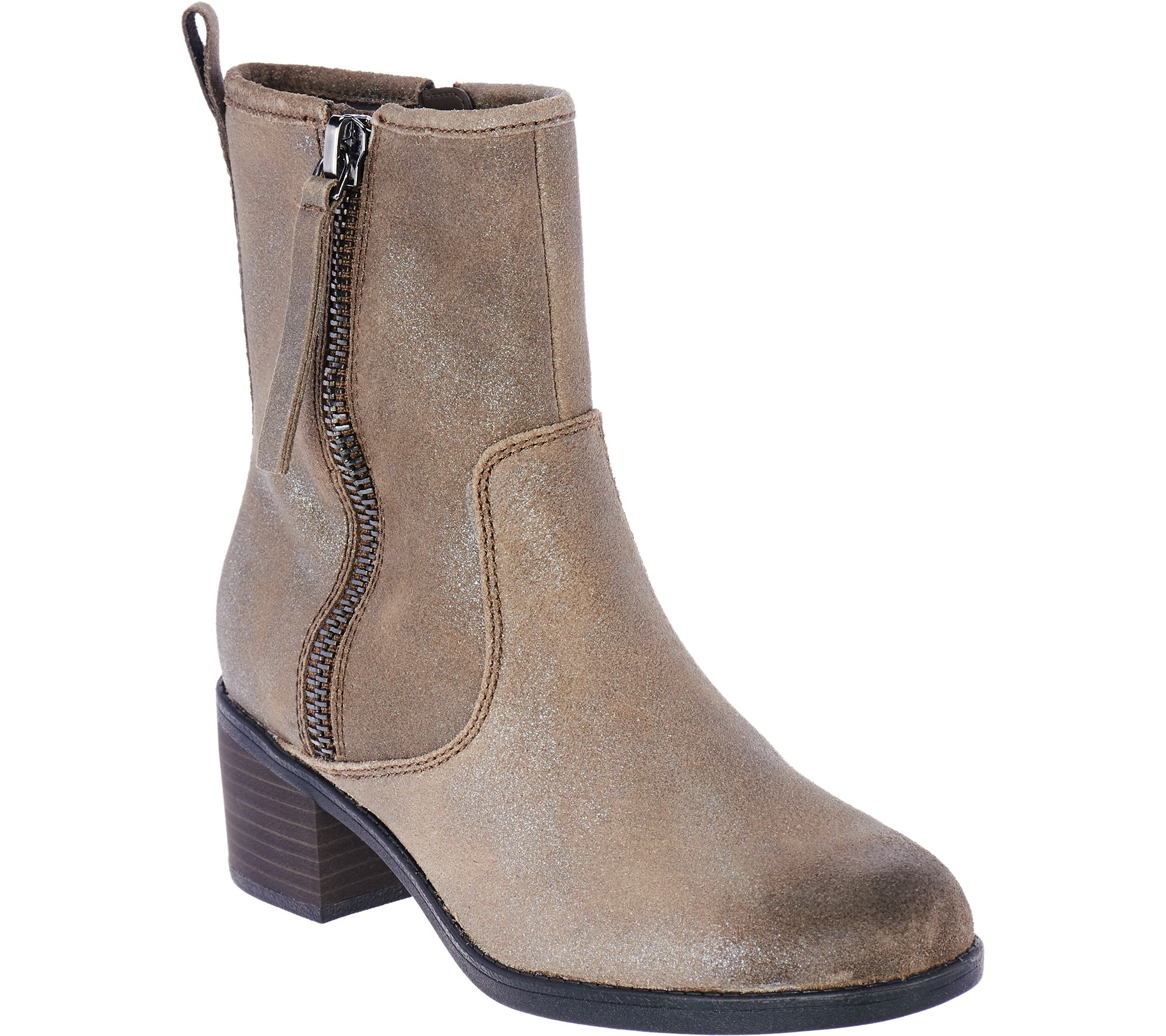 clarks bendables leather side zip boots nevella