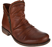 Miz Mooz Leather Ankle Boots with Side Zip - Luna - A282872