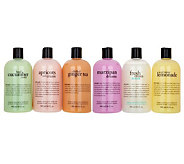 philosophy refreshing 6-piece shower gel collection - A293472