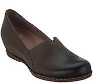 Dansko Nubuck Leather Closed Toe Wedges - Liliana - A296872
