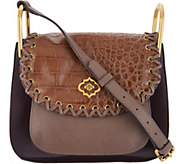 orYANY Croco Embossed & Pebble Leather Crossbody - A297472
