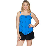 As Is Fit 4 U Handkerchief Laser Cut Tankini with Short - A300472