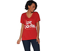 Peace Love World Strong Woman Short Sleeve Mia T-Shirt - A302272