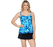 As Is Fit 4 U Sonic Tulips Waterfall Skirtini Swimsuit - A302872