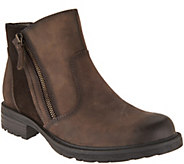 As Is Earth Vintage Leather Side Zip Ankle Boots- Jordan - A304872