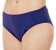 Simply Sole Solid Control Panty Swim Bottoms - A332472