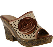 LArtiste By Spring Step Leather Wedge Sandals- Amara - A356972