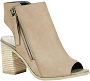 Sole Society Block Heel Peep-toe Booties - Arizona - A357572
