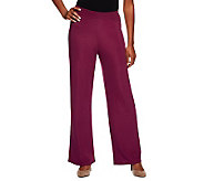 Susan Graver Lustra Knit Wide Leg Regular Pants - A74572