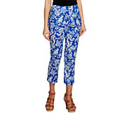 Linea by Louis DellOlio Printed Woven Crop Pants - A253573