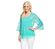 Isaac Mizrahi Live! Animal Print Top with Cami - A253873