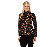 George Simonton Animal Print One Button Jacket - A257773