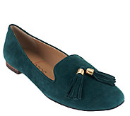 Sole Society Suede Smoking Slipper with Tassels - Ceara - A258073