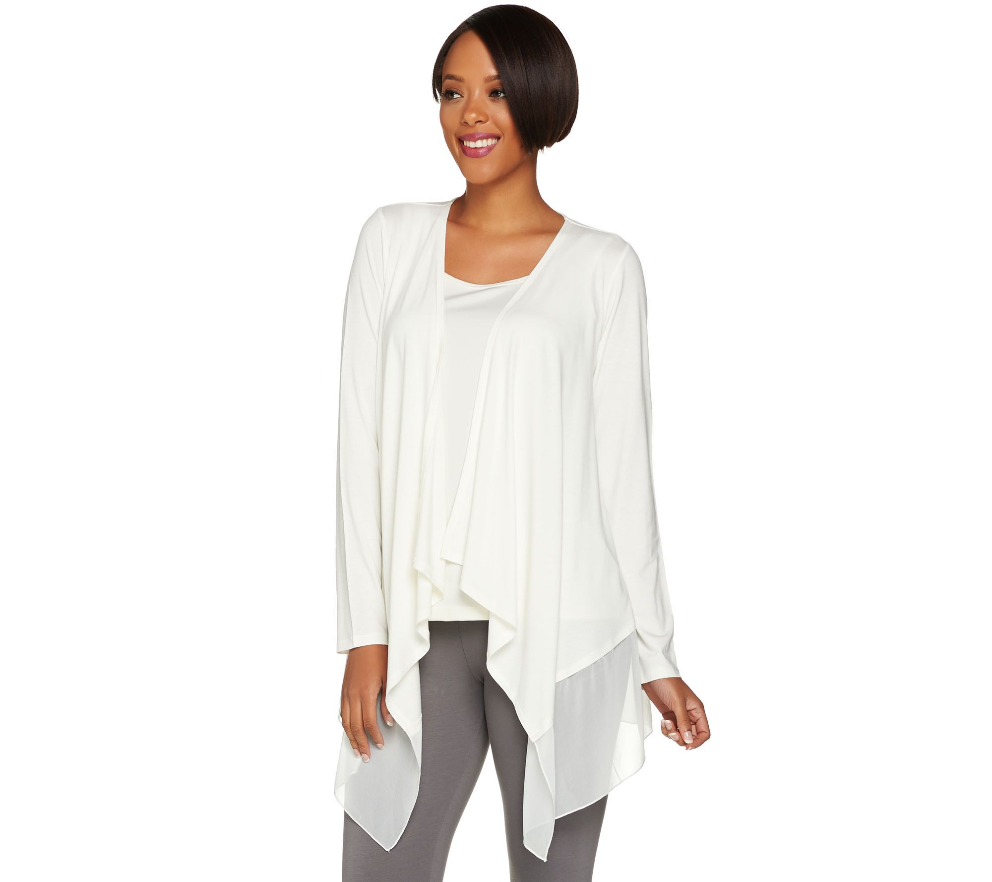 initial draped platinum image autumn drape drapes ribbed cardigan cashmere in sweater