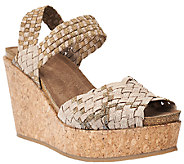 Adam Tucker Stretch Woven Open-toe Wedges - Posy - A264773