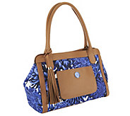 As Is Isaac Mizrahi Live! Bridgehampton Printed Satchel - A264973